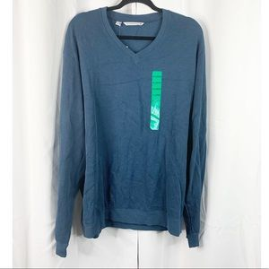 NEW Cutter & Buck blue extra large V-neck sweater